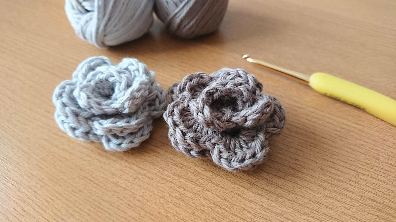 簡単!編んで巻くだけ花のモチーフ