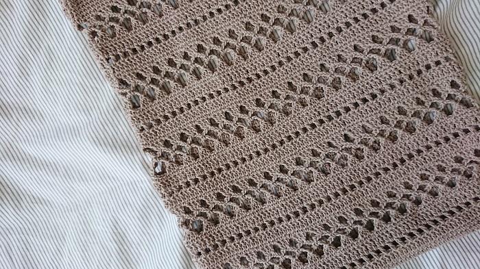 ネット編みのトートバッグ2