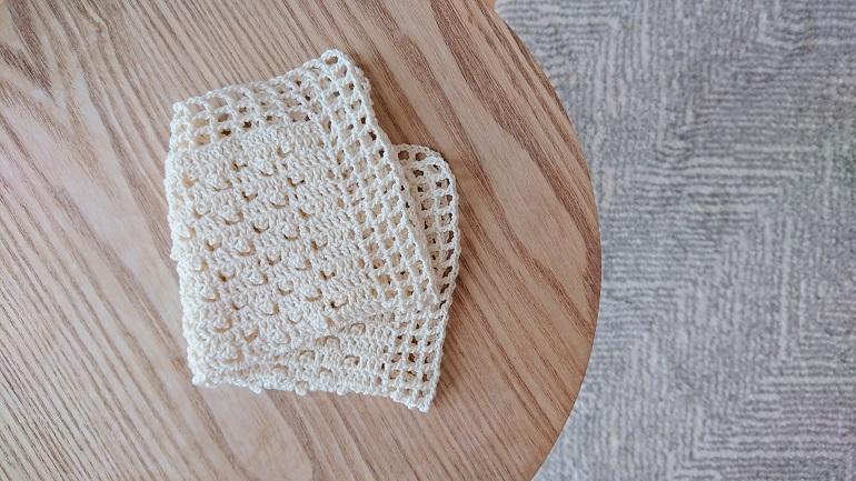ピコット編みのハンカチ1